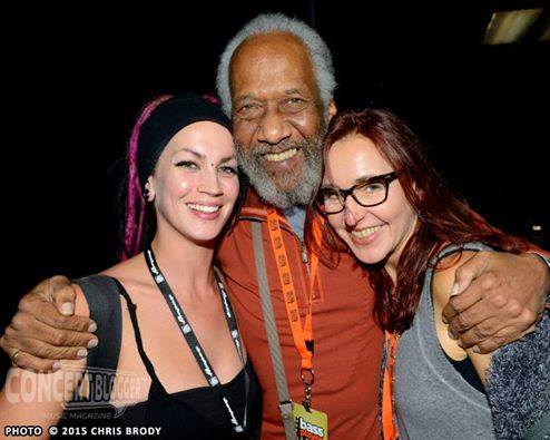 WIth Chuck Rainey and Tanya O'Callaghan