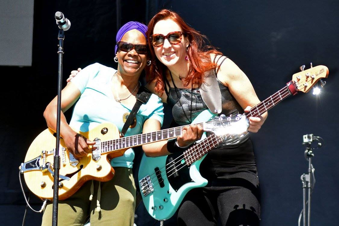 WIth Gayle Muldrow, playing Pride with the Bowie Project