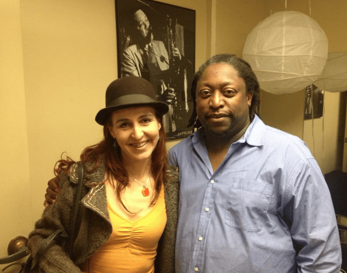With Darryl Jones of the Rolling Stones/Miles etc