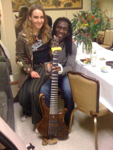 With Richard Bona