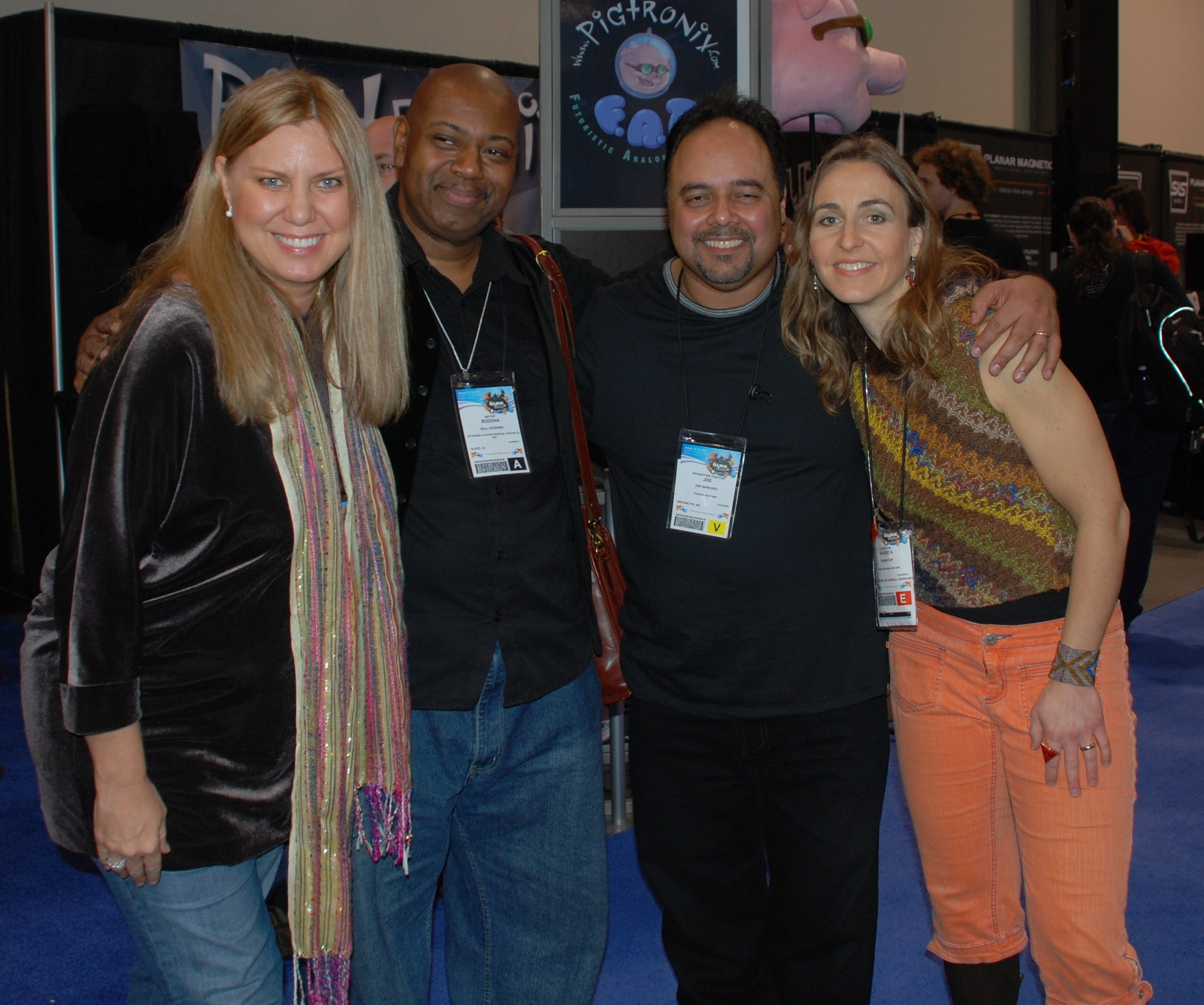 With Bill Dickens, Lisa Baker, Joe Sanchez