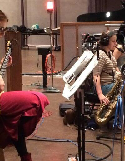 Recording with the Montclair WOmen's Big Band
