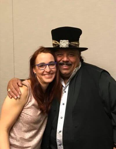 With Carlos Reyes